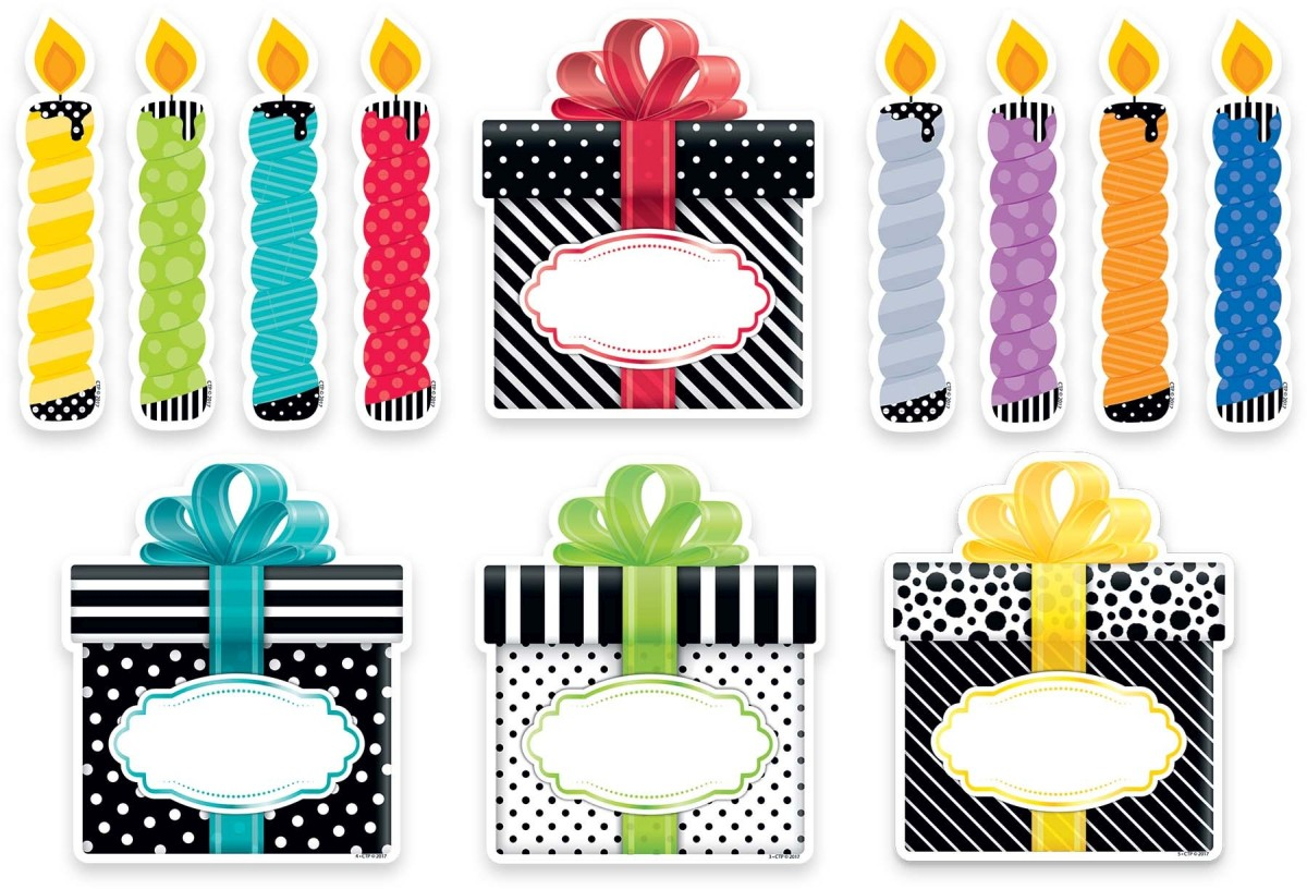 6u0026quot; Bold Bright Birthday Cut Outs Designer, CTP0636