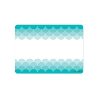 Ombre Turquoise Scallops Labels Paint, CTP0717