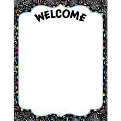 Bw Collection Welcome Chart By Creative Teaching Press