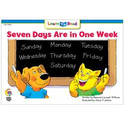 "7 Days Are "" One Week Cat And Dog Learn To Read, CTP10112"