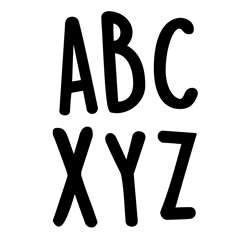 "Casual Black 2"" Letter Stickers, CTP10159"
