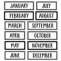 Months Of The Year Mini Bulletin Board St Core Dec, CTP10255