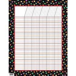 Dots On Black Incentive Chart By Creative Teaching Press