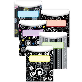 Black And White Collection Library Pockets By Creative Teaching Press