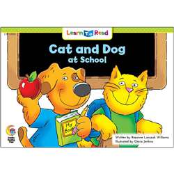 Cat And Dog At School Learn To Read, CTP13934