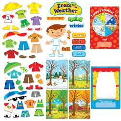 Dress For The Weather Bulletin Board Set By Creative Teaching Press
