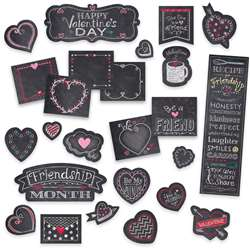 Chalk Hearts Mini Bulletin Board Chalk It Up, CTP1733