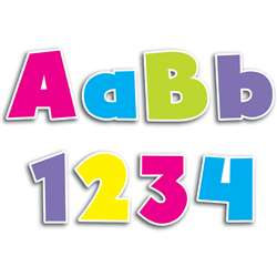 Shop Bold Brights 4In Designer Letters - Ctp1892 By Creative Teaching Press