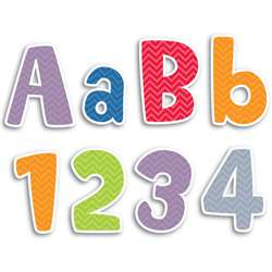 Shop Chevron Solids 4In Designer Letters - Ctp1893 By Creative Teaching Press