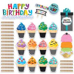 Bold Bright Happy Birthday Mini Bulletin Board Set, CTP2178
