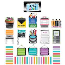 Bold Bright Class Jobs Mini Bulletin Board Set, CTP2184