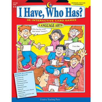 Language Gr 5-6 I Have Who Has Series By Creative Teaching Press