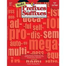More Prefixes And Suffixes By Creative Teaching Press
