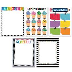 Bold Bright 5 Chart Pack Classroom Essentials, CTP2255