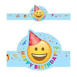 Emoji Fun Happy Birthday Crowns, CTP2565
