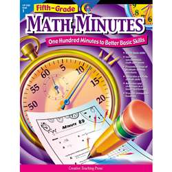 Fifth-Grade Math Minutes By Creative Teaching Press