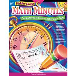 Middle-Grade Math Minutes Gr 6-8 By Creative Teaching Press