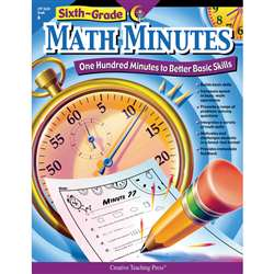 Sixth-Grade Math Minutes By Creative Teaching Press