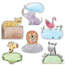 "6"" Safari Friends Designer Cutouts, CTP3278"