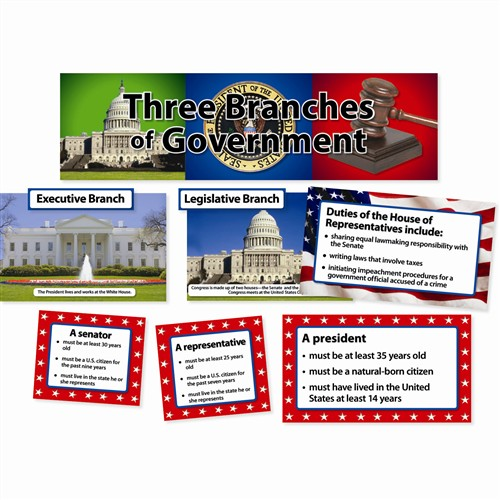 three branches of government mini bulletin board s ctp3792