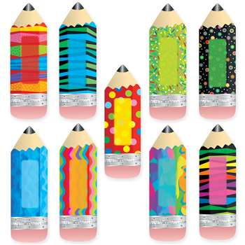 Poppin Patterns Pencils 6In Designer Cut Outs By Creative Teaching Press