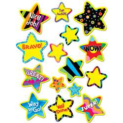 Poppin Pattern Bright Star Stickers By Creative Teaching Press