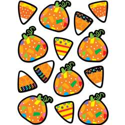 Poppin Patterns Pumpkins & Candy Corn Stickers By Creative Teaching Press