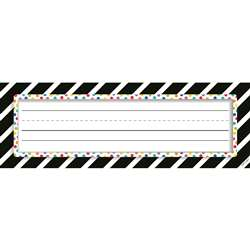 Bold Stripes/Dots Nameplates Bold And Bright, CTP4299