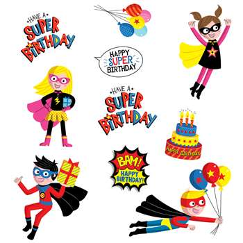 Superheroes Birthday Stickers, CTP4407