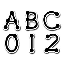 Black Dot-To-Dot Uppercase Letters Stickers By Creative Teaching Press