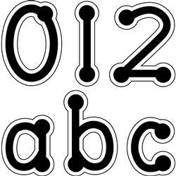 Black Dot-To-Dot Lowercase Letters Stickers By Creative Teaching Press