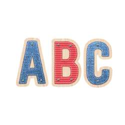 "2"" Upcycle Style Letter Stickers Uppercase, CTP4839"