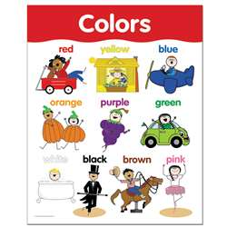 Colors Small Chart By Creative Teaching Press