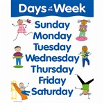 Days Of The Week Small Chart By Creative Teaching Press