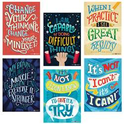 Inspire U Posters 6 Pack Whats Your Mindset, CTP5692