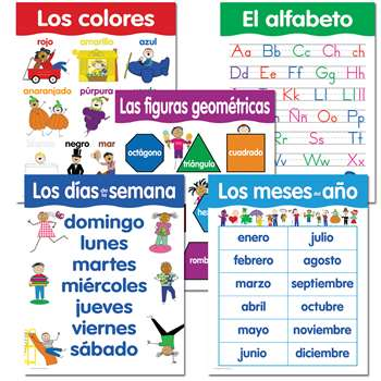 Spanish Basic Skills 5 Chart Pack By Creative Teaching Press