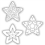 Shop Color Me Stars 6In Designer Cut Outs - Ctp5847 By Creative Teaching Press