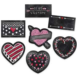 "6"" Chalk Hearts Designer Cut Outs, CTP6076"