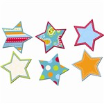 Dots On Turquoise Stars 6In Designer Cut Outs By Creative Teaching Press