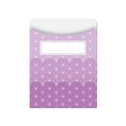 Ombre Purple Radiant Stars Library Pockets