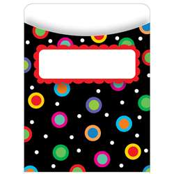 Dots On Black Library Pockets By Creative Teaching Press