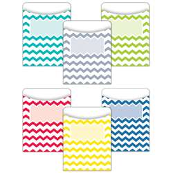 Shop Chevron Solids Library Pocket - Ctp6923 By Creative Teaching Press