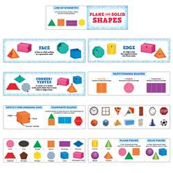 Plane And Solid Shapes Mini Bulletin Board Set, CTP6984