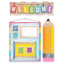 Welcome Bulletin Board Set Upcycle Style, CTP7054