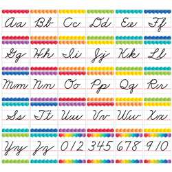 Cursive Handwriting Alphabet Bulletin Board Set Pa, CTP7056