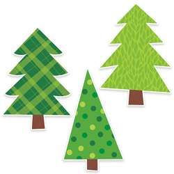 Patterned Pine Trees Bulletin Board, CTP7073