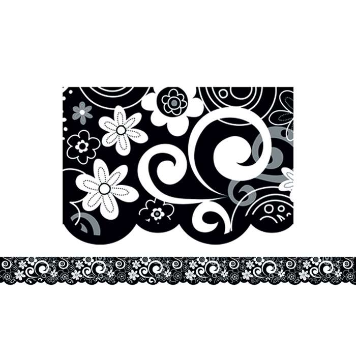 Flower Doodles Border By Creative Teaching Press