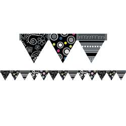 Black And White Pennant Border By Creative Teaching Press