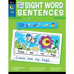 Cut & Paste Sight Words Sentences By Creative Teaching Press