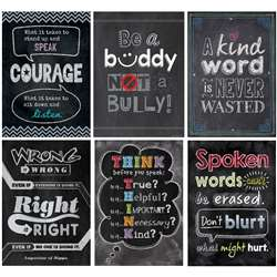 Inspire U No Bullying Allowed 6 Pack Posters, CTP7481